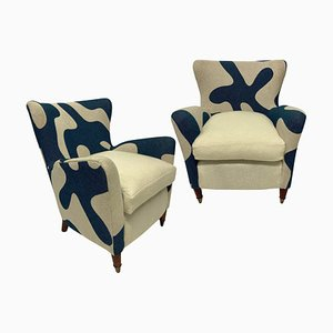 Armchairs by Gio Ponti for ISA Bergamo, Set of 2