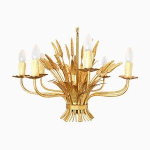 Vintage Hollywood Regency Flower Ceiling Lamp by Hans Kögl