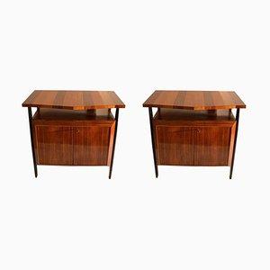 Rosewood Veneer Dressers, 1950s, Set of 2