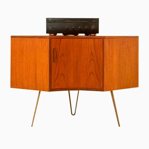 Small Mid-Century Teak Corner Cabinet by Victor Wilkins for G-Plan
