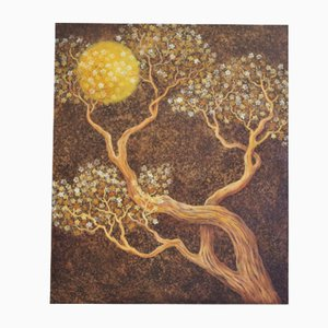 Hand-Painted Tree Painting, 2000s, Acrylic on Canvas