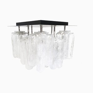 Granada Ice Glass Ceiling Lamp from Kalmar, 1960s