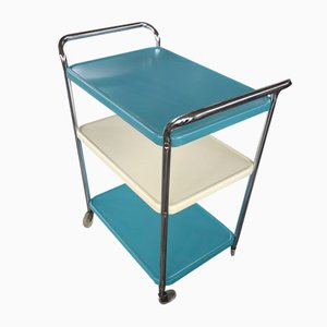 Vintage Metal Bar Cart / Serving Table Cart from Cosco, USA, 1960s