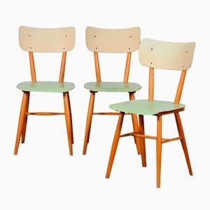 Tschechische Vintage Stühle von TON, 1960er, 3er Set