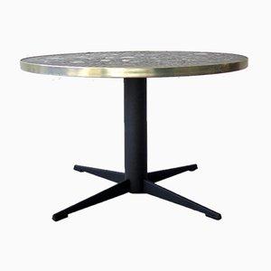 Table Basse Vintage avec Plateau en Céramique, 1950s