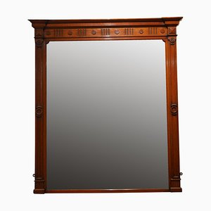Large Victorian Oak Wall Mirror