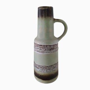 Vintage Fat Lava Keramikvase in Türkis & Graubraun von VEB Keramische Werke Haldensleben, 1960er