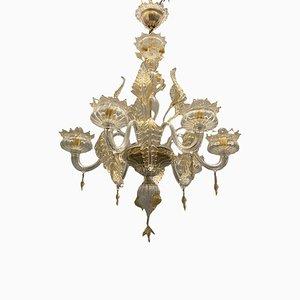 Italienischer Kronleuchter aus Muranoglas in Gold von La Murrina