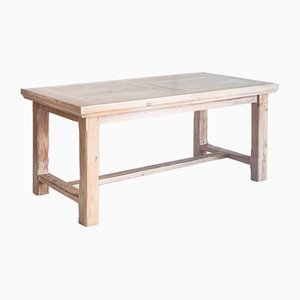 Restored Pinewood Farmhouse Table with Extension, France