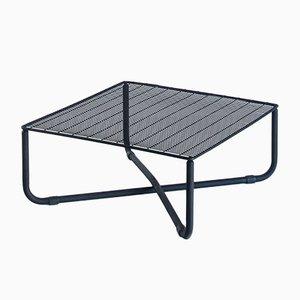 Jarpen Tisch aus mattschwarz lackiertem Metall von Niels Gammelgaard für Ikea, 1983