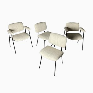 Chairs and Armchairs by Pierre Paulin for Thonet, Set of 4