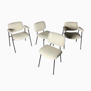 Stühle und Sessel von Pierre Paulin für Thonet, 4er Set