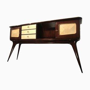 Italian Parchment Center Sideboard by Guglielmo Ulrich, 1950s