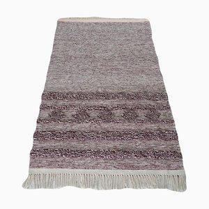 Minimalist Handwoven Wool Kilim Rug