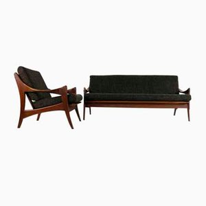 Teak Sofa and Lounge Chair for De Ster Gelderland, 1960s, Set of 2