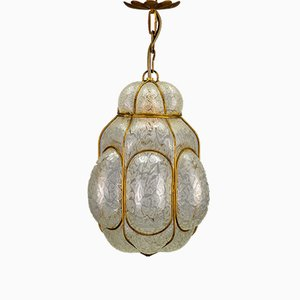 Vintage Caged Murano Glass Pendant Light, 1960s