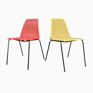Zweifarbige Vintage Stühle, 2er Set