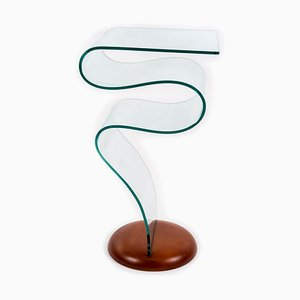 Table in Thermoformed Glass in the Style of Fontana Arte