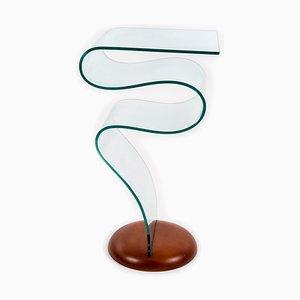 Tisch aus Thermogeformtem Glas im Stil von Fontana Arte