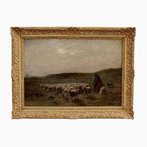 Large moutons au pâturage Painting by A. Charpin, 1906