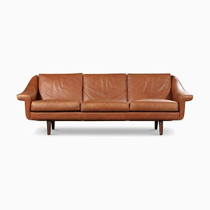 Vintage Danish Leather Matador Sofa by Aage Christiansen for Erhardsen & Andersen