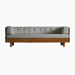 Norwegisches modernes 3-Sitzer Sofa aus massivem Pinienholz, 1976