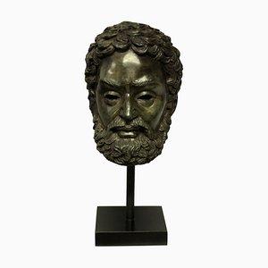 English Bronze Head of Zeus, 1950s