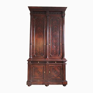 Classicist Top Cabinet in Rosewood, 19th Century