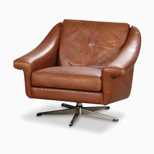 Vintage Danish Leather Swivel Chair from Erhardsen & Andersen