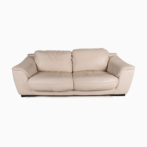 Cream Leather Sofa from Luxform