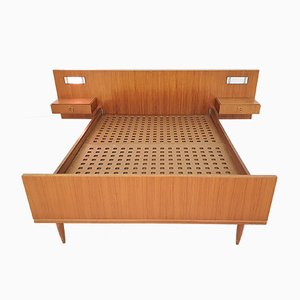 Scandinavian Teak Bed, Denmark, 1950s