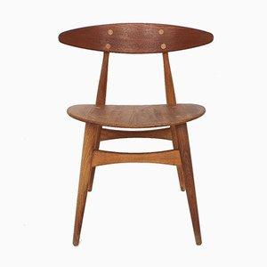 CH33T Teak Dining Chair by Hans Wegner for Carl Hansen and Son, Denmark, 1950s