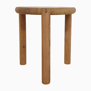 Round Pinewood Side Table or Stool by Rainer Daumiller, Denmark, 1970s