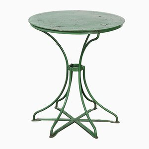French Green Garden Table, 1940s