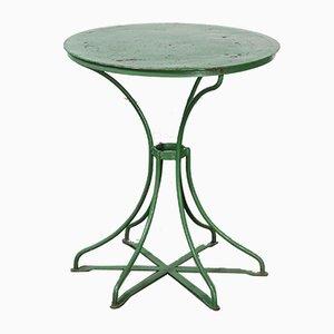 Mesa de jardín francesa verde, años 40