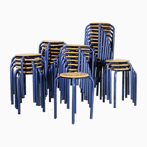 French Stacking School Stool, 1960s