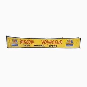 Gelbe Werbetafel Taube Voyageur, 1950er