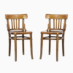 Bentwood Dining Chairs, 1950s, Set of 2