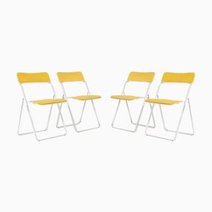 Italian Foldable Chairs, 1980s, Set of 4