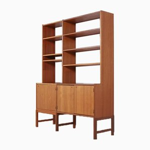 Swedish Teak Bookshelf Cabinet from Skaraborgs, 1960s