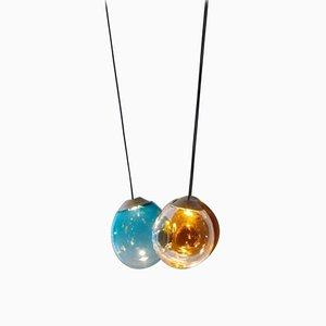Colored Triple Momentum Blown Glass Pendants by Alex de Witte
