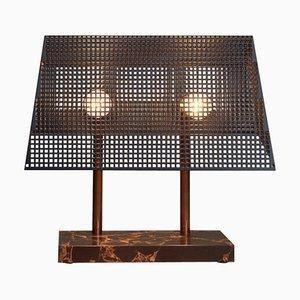 Einzigartige Trapèze Tischlampe mit Marmorfuß von Koen Van Guijze