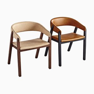 Oslo Chairs, Brown by Pepe Albargues, Set of 2