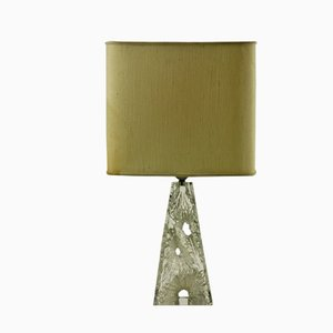 Carved Crystal Base Table Lamp from Daum