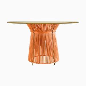 Orange Caribe Dining Table by Sebastian Herkner