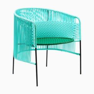 Mint Caribe Lounge Chair by Sebastian Herkner