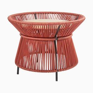 Caribe Chic Basket Tisch mit Marmorplatte von Sebastian Herkner