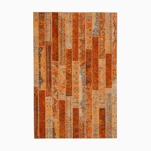 Orange Patchwork Rug