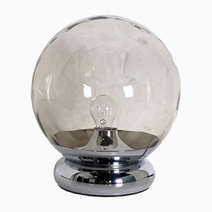 Globe Space-Age Lamp in Amber Glass