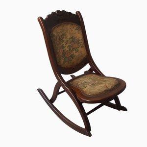 Mid-Century Folding Rocking Chair